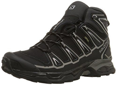 Salomon Men's X Ultra Mid 2 GTX Multifunctional Hiking Boot, Black/Black/Aluminum, 9.5 M US. For product & price info go to:  https://all4hiking.com/products/salomon-mens-x-ultra-mid-2-gtx-multifunctional-hiking-boot-black-black-aluminum-9-5-m-us/