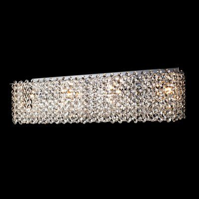 Bethel International LX11 LX SERIES 4 Light Crystal Bathroom Light & Best 25+ Crystal bathroom lighting ideas on Pinterest | Industrial ... azcodes.com