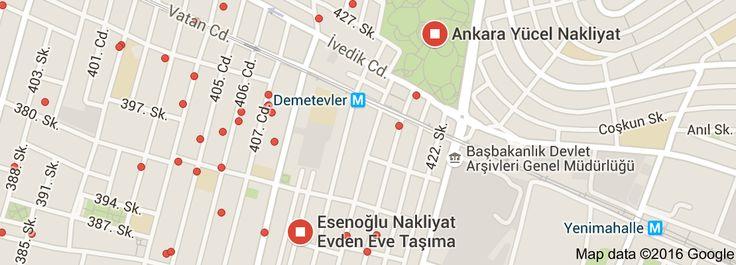 Map of nakliyat