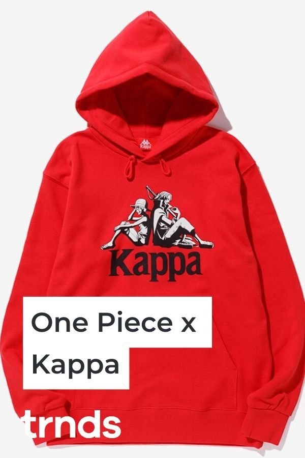 Japanese Anime One Piece Unveils A Collaborative Collection With Kappa Trnds One Piece Kappa Black And Red