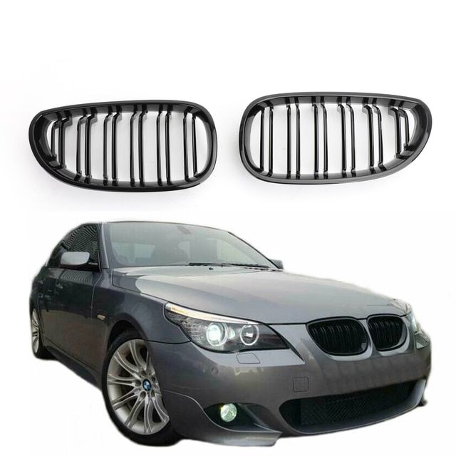 ABS Front Replacement Kidney Grill for BMW 5 Series E60 E61 Gloss Black E60 Grille