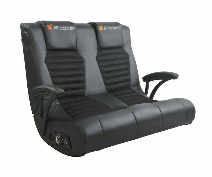 Gaming chair black head to head 2 seater rocker with 2