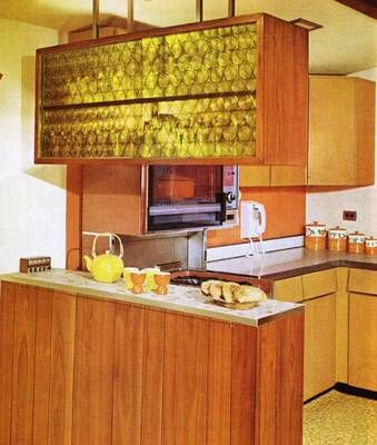 1960s Kitchen: OMG We had the same yellow perspex in our wall divider!