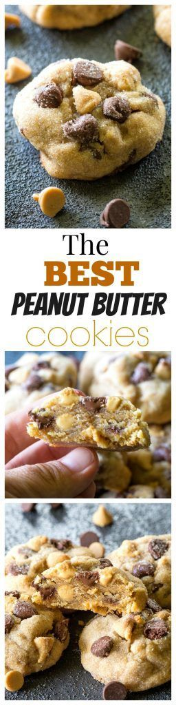 The Best Peanut Butter Cookies - studded with chocolate chips and peanut butter chips. http://the-girl-who-ate-everything.com