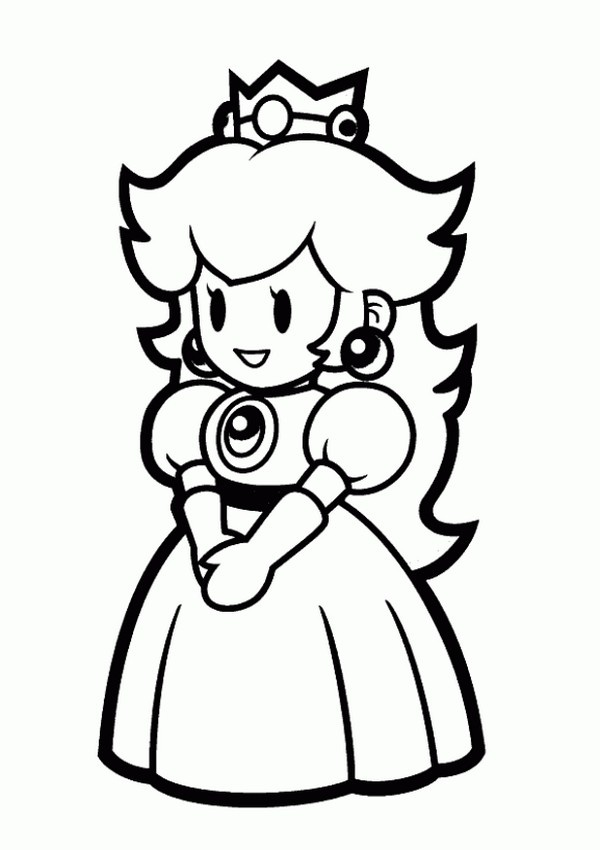 Princess peach coloring pages to print Books Worth