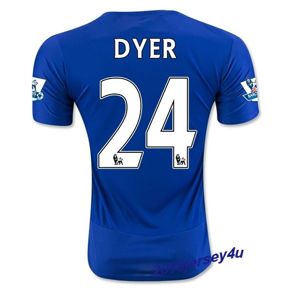 Nathan Dyer 24 Leicester City 15/16 Home Soccer Jersey
