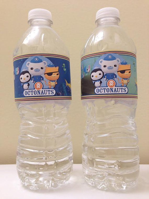 Printable Octonauts Birthday Party Water Bottle Labels by ...