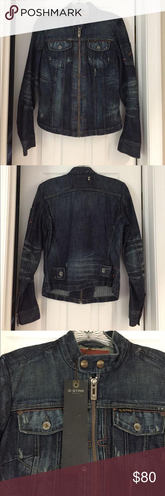 G Star Raw Jean jacket size medium new with tags G star raw jean jacket in size Medium. Brand new and never worn with tags. Great piece with great detailing! G-Star Jackets & Coats Jean Jackets