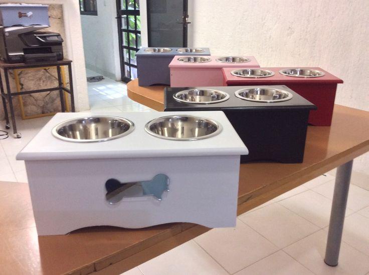 Comederos Bebederos Para Perros Elevados Y Personalizados - $ 375.00 en MercadoLibre