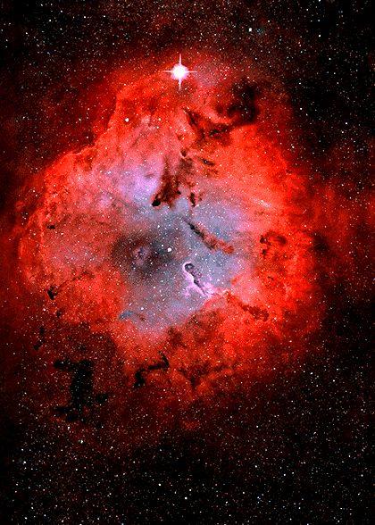 Simulación de un tres dimensional nebulosa.  [Haga clic para hechos científicos más interesantes y gifs]