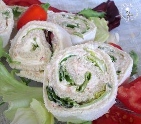 Girelle di pancarrè con crema al tonno,ricetta veloce senza cottura bastano pochi ingredienti e sono buonissime