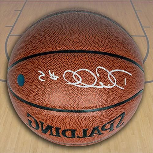 Autograph Authentic CARD429050 DeMarre Carroll Autographed Spalding NBA I-O Basketball - Toronto Raptors