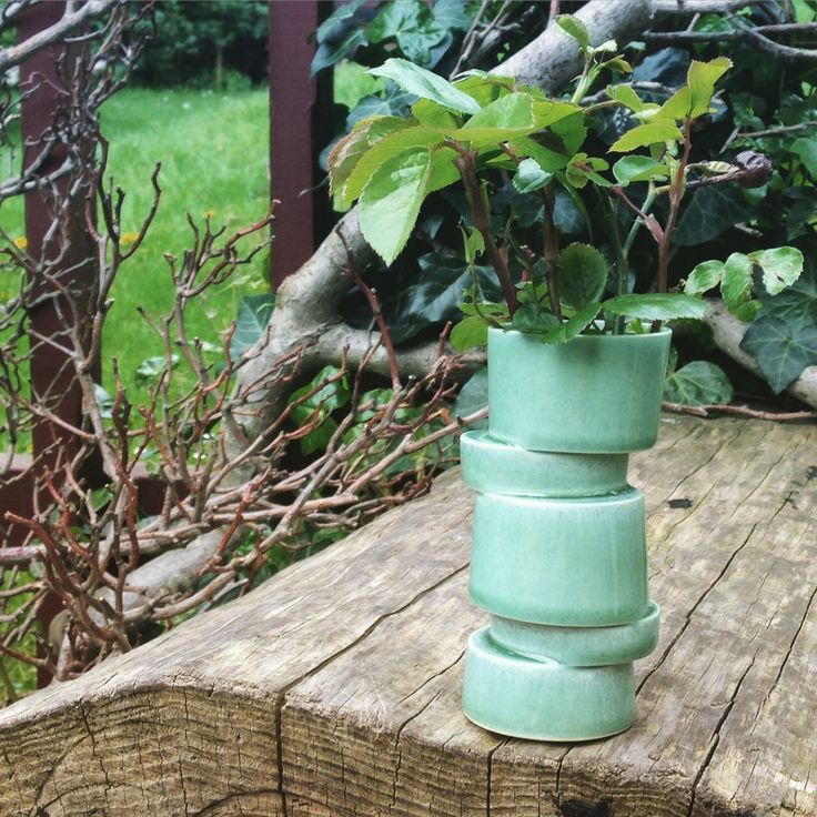 New green colour Stacked vase will soon be available at my web shop.