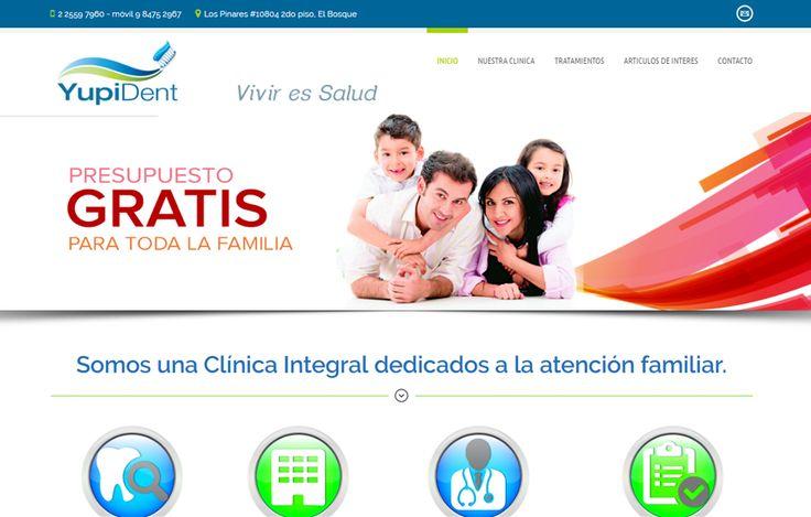 Sitio web www.yupident.cl para nuestro cliente Clínica Dental Yupident. Versión 2016.