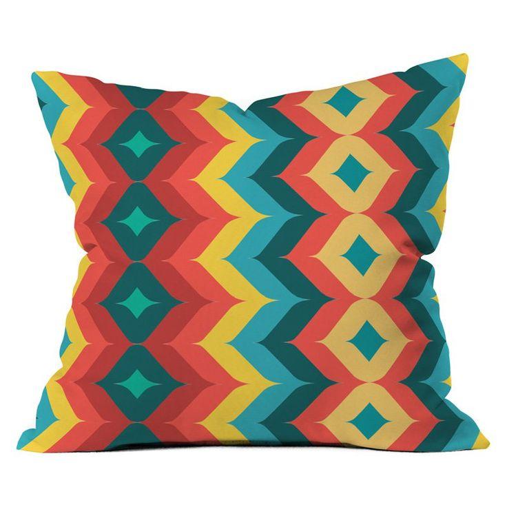 DENY Designs Juliana Curi Chevron 4 Outdoor Throw Pillow   from hayneedle.com