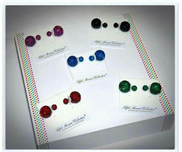 "New ""double the fun"" earrings in amazing colours"