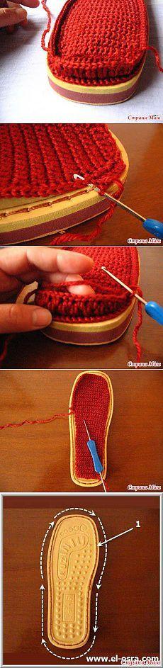 MK tabanları terlik:; başlayanlar & quot için Crochet blog grubu & quot;  - Ev Moms
