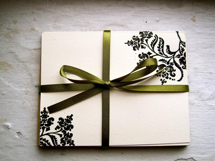 charming embossed floral notecards that I made :)