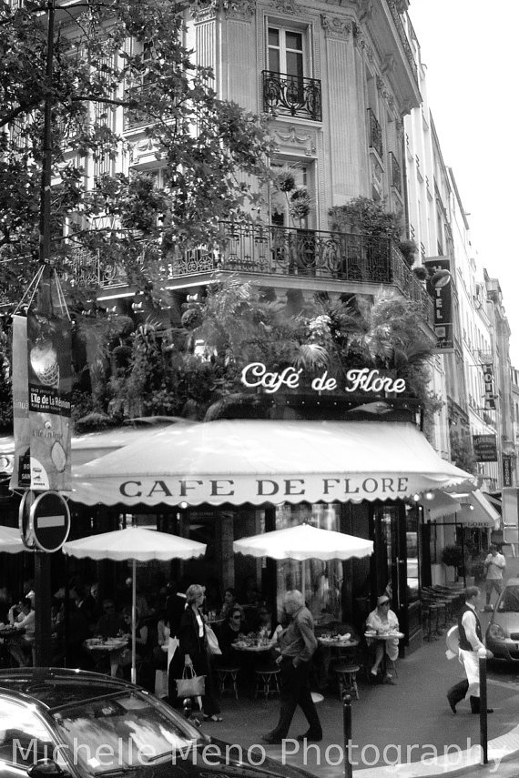 Paris photography cafe photo black and white by emeraldeyz26