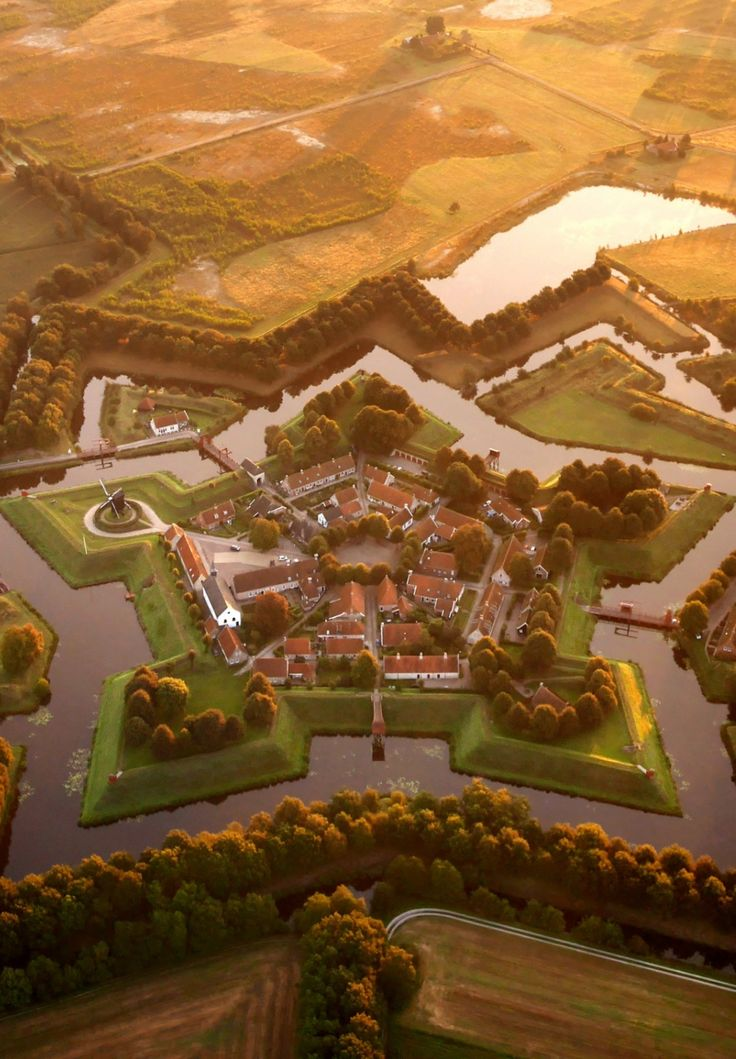 Star Fort, Bourtange, Groningen, Netherlands. It was built in 1593 under the orders of William the Silent, now a historical museum.