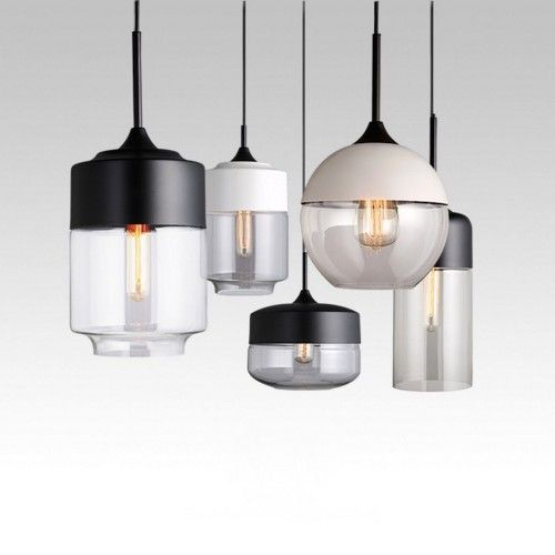 Pendant Lights Europe And Minimalist Modern Restaurant Chandeliers Creative Lounge Dining Hall Single Head Glass Hanging