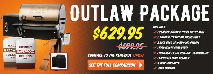 Compare our Outlaw package to the Traeger Renegade!