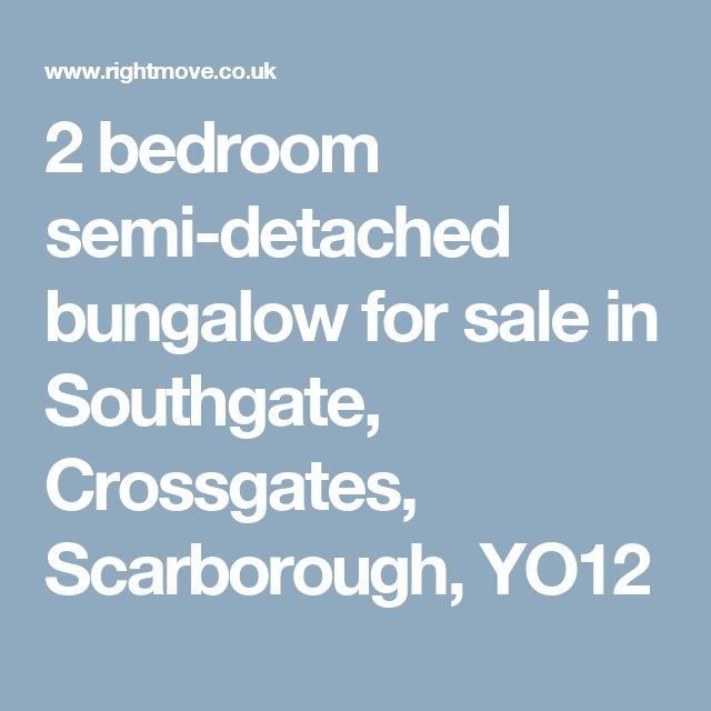 2 bedroom semi-detached bungalow for sale in Southgate, Crossgates, Scarborough, YO12
