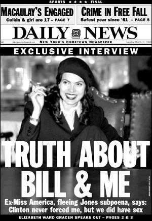 Far Right-Wing Minded: Pres. Bill Clinton had an Affair with Miss America Elizabeth Gracen