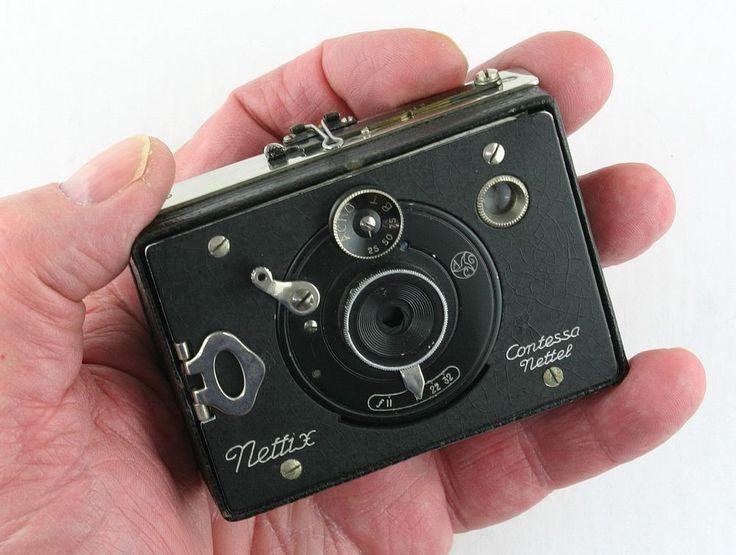 RARE Contessa Nettel NETTIX, miniature strut folding plate camera, 1920 Germany