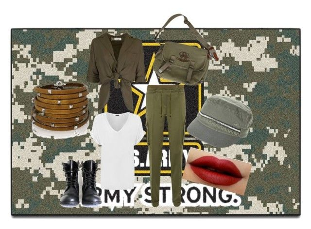 """""""Army Outfit"""" by hermkat ❤ liked on Polyvore featuring interior, interiors, interior design, home, home decor, interior decorating, FANMATS, WearAll, Balmain and Ralph Lauren"""