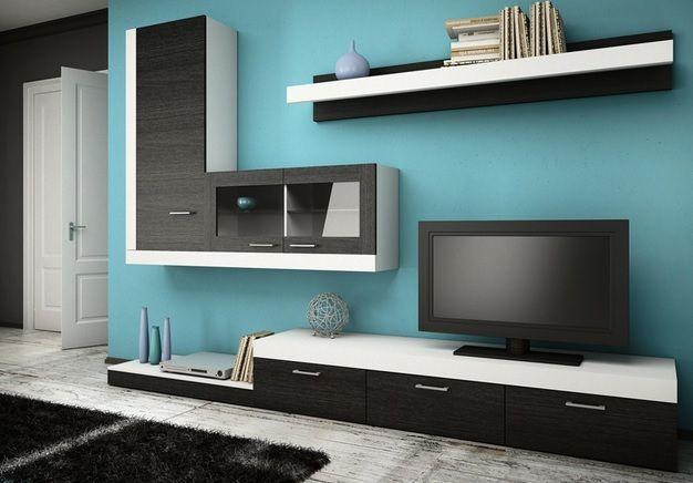 Enfin un ensemble mural modulable grâce à ANDY, vous pourrez changer à votre guise l'emplacement du meuble TV et de l'étagère murale. Cet ensemble TV design facilite la vie grâce à des petits plus qui font toute la différence. Vous ne vous en lasserez pas!
