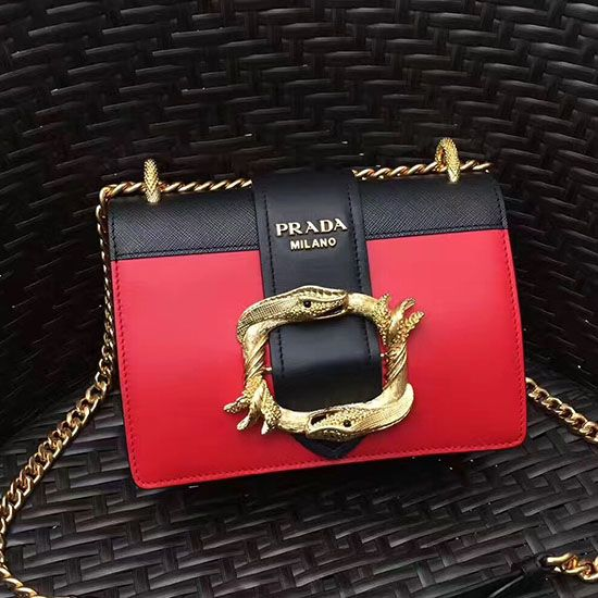 7675be36961480 Prada Original Calf Leather Cahier Bag Red 1BD066 | Prada Shoulder ...