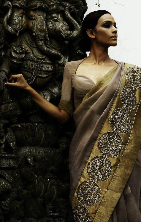 Gorgeous Gold bordered saree #saree #sari #blouse #indian #outfit #shaadi #bridal #fashion #style #desi #designer #wedding #gorgeous #beautiful