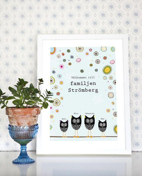 Blomsterugglorna, familjetavla, ugglor