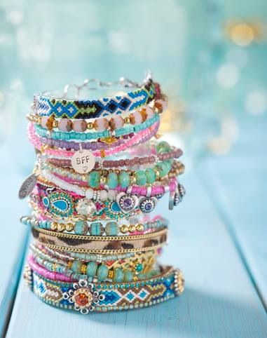 Boho style bracelets