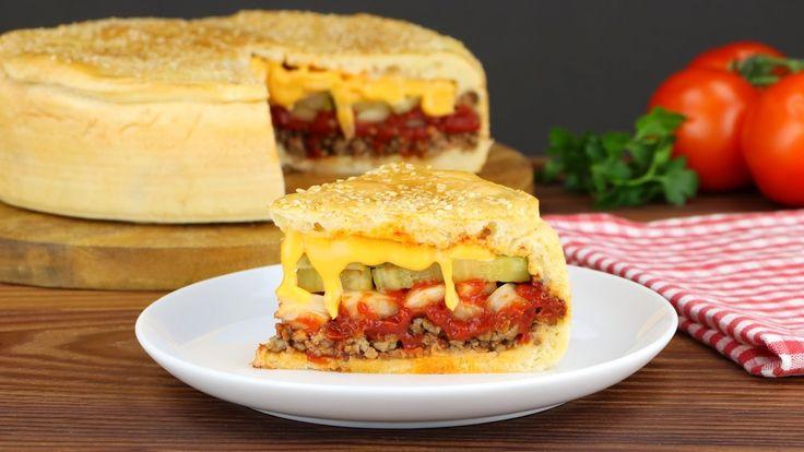 Duas tentações em uma: Torta de Cheeseburger