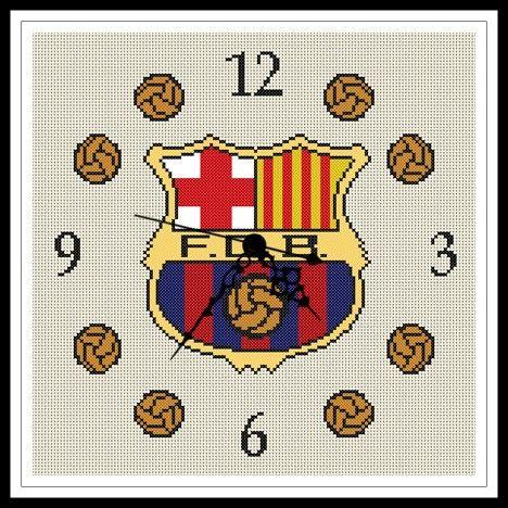 """Gráfico para punto de cruz del """"Reloj del Barcelona""""."""