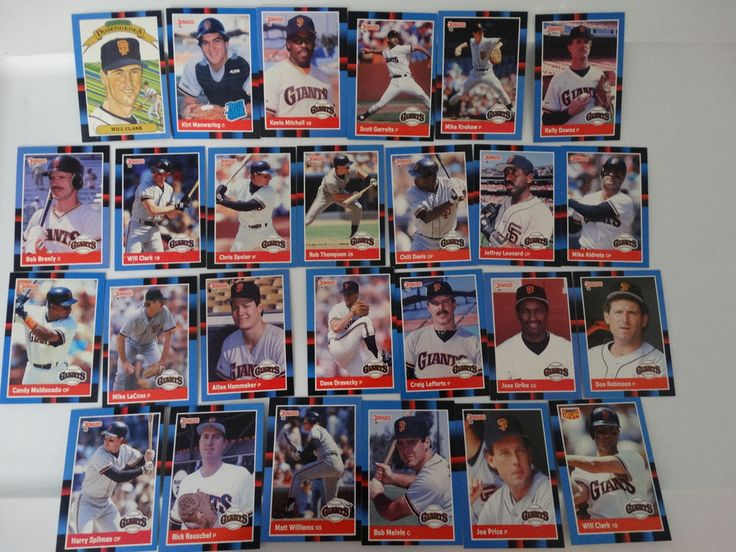 1988 Donruss San Francisco Giants Team Set of 26 Baseball Cards #sfgiants #SanFranciscoGiants