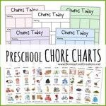 Free Preschool Chore Charts with printables, could also be used for older children