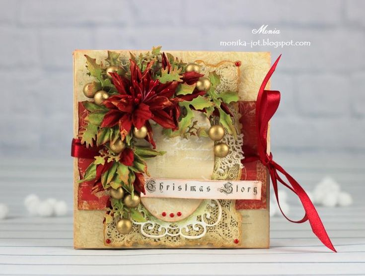 Christmas mini-album by Monia - Cards and Paper Crafts at Splitcoaststampers