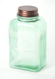 SO15 Vintage Flour Jar Green 22x11cm