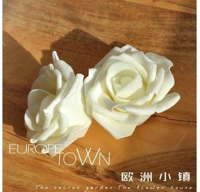 7 cm artificielle floral eva mousse roses tête, Arrangements de bricolage embrassant balle et décoration pour la voiture et arc et mariée fleur de la main bouquet(China (Mainland))