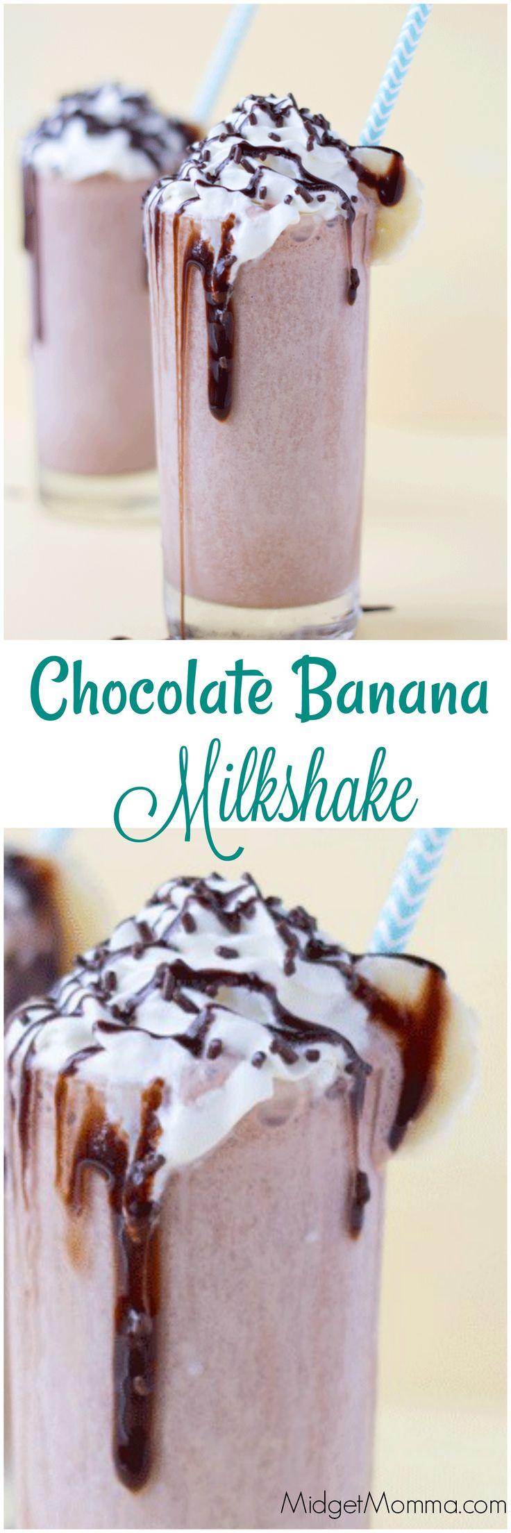 Chocolate Banana Milkshake. Chocolate and banana is one amazing combo and this chocolate banana milkshake is one that will always be a hit!