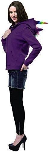 Plus Size Rasta Imposta Plus-Size Unicorn Hoodie, Purple/Multi, Plus, Women's