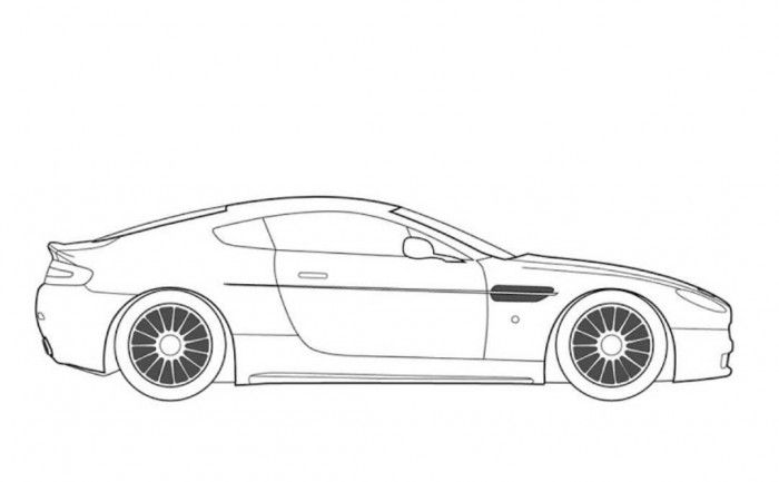 Aston Martin Db9 Car Coloring Page Free Online Cars Coloring