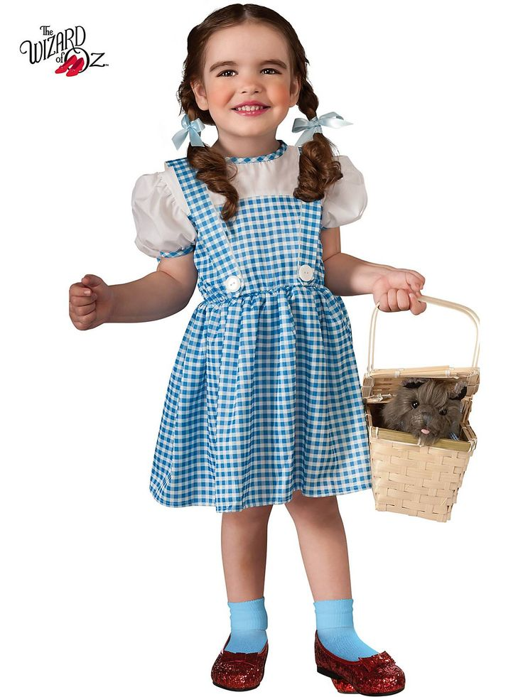 There's no place like home and there's no other costume like this Dorothy Toddler Costume for girls this Halloween.