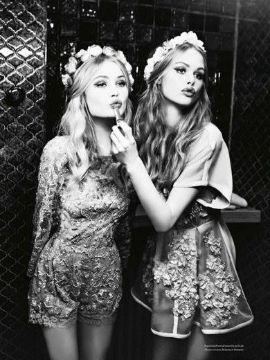 """""""Better Fun"""" Camilla Christensen and Emma Stern by Ellen von Unwerth for Vs Magazine S/S 2014"""