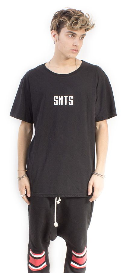 LONG TEE UNISEX NERO ST. SNTS SMALL #lasaints #snts #dope #streetwear #tshirt #madeinitaly #fashion #tomaslanza #style #losangeles