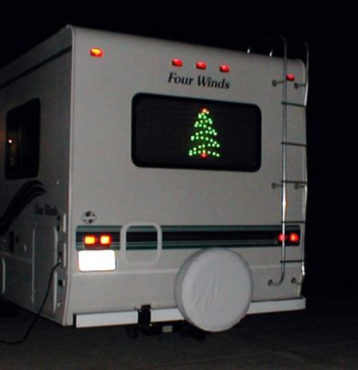 How To Decorate An RV For The Holidays... Pictures & Videos Of RVs With Christmas Lights