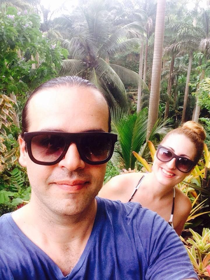 Double O Sunglasses travel to #Barbados!  #Gluttony & #Pride V in the Carribbean forest looking so natural by the trees!  Thank you Alexis & Martha!